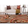 Meticulously Woven Contemporary Paisley Floral Rug (7'10 x 10')
