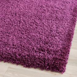 Safavieh Cozy Solid Purple Shag Rug (2'3 x 7')