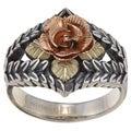 Black Hills Gold and Sterling Silver Dakota Rose Ring