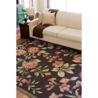 Hand-hooked Clearwater Indoor/Outdoor Floral Rug (9' x 12')