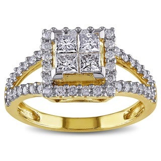 Miadora 14k Yellow Gold 1ct TDW Diamond Ring (G-H, I2-I3)