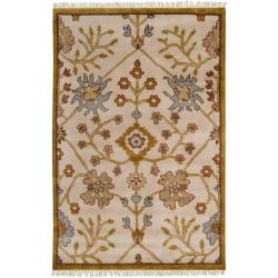 Hand-knotted Ivory Southwestern Belfort New Zealand Wool Rug ( 9' x 13' )