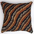 LNR Home Damas Chocolate Stripes 18-inch Pillow