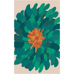 Hand-tufted /Green Versailles New Zealand Wool Abstract Rug ( 8' x 11' )