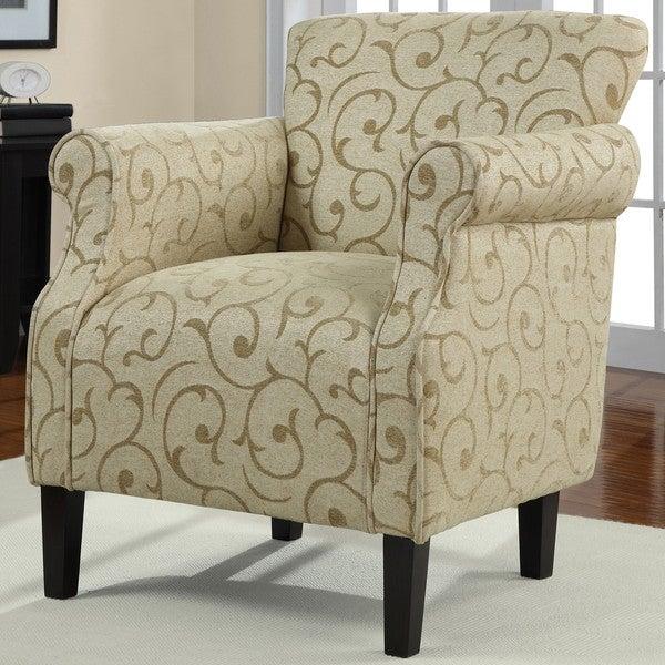 Tiburon Damask Chenille Arm Chair