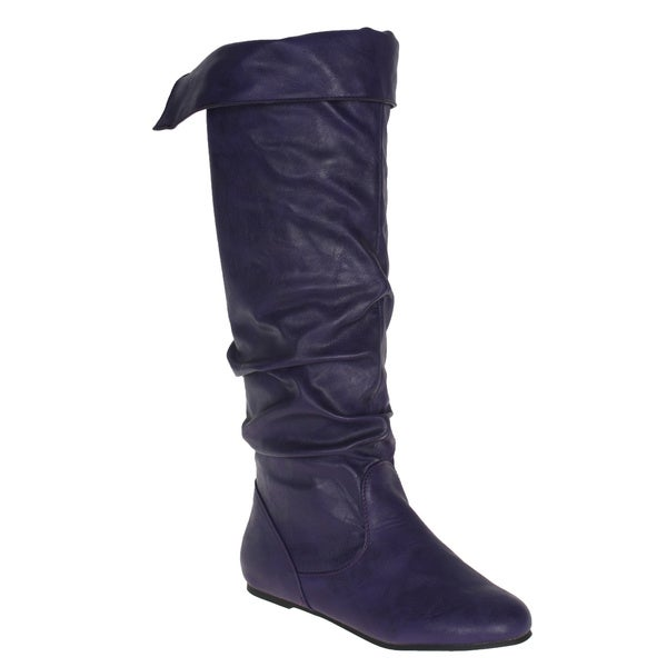 Story Women's Purple 'Cookie' Knee-high Boots