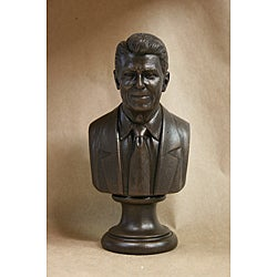 Bronze Finished Bonded Marble Bust of Ronald Reagan