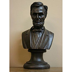 Bronze Finished Bonded Marble Bust of Abraham Lincoln