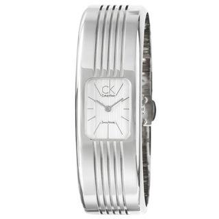 Calvin Klein Women's 'Fractal' Water-Resistant Stainless-Steel Quartz Watch