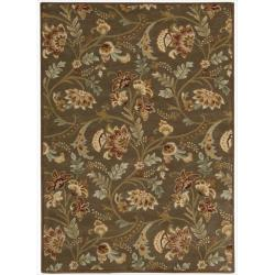 Nourison Hand-tufted Firenze Brown Rug (3'6 x 5'6)