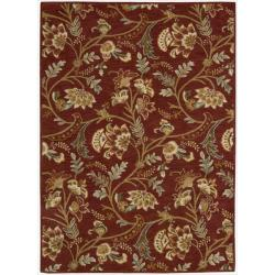Nourison Hand-tufted Firenze Red Rug (7'6 x 9'6)