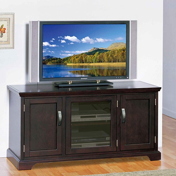 chocolate bronze 50 inch tv stand media console overstock shopping great deals on kd. Black Bedroom Furniture Sets. Home Design Ideas