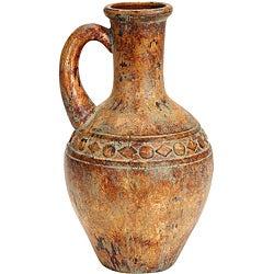 Porto Fino Distress Terra Cotta Urn Ceramic Vase