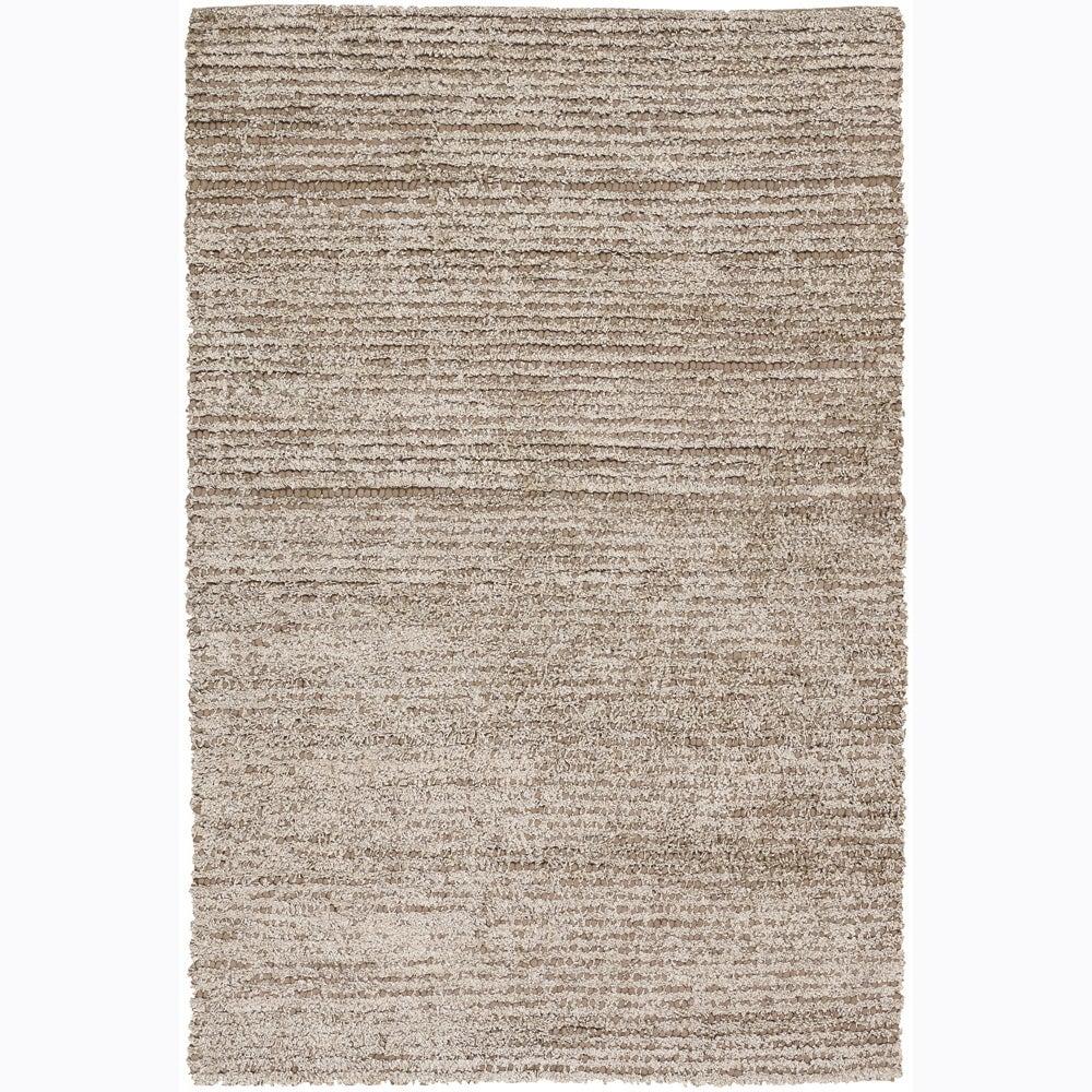Handwoven Beige Wool/Poly Mandara Shag Rug (7'9 x 10'6)