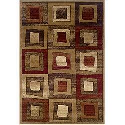Brown Geometric Rug (7'9' x 9'9')