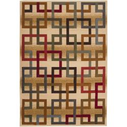 Meticulously Woven Earley Multi Colored Squares Geometric Rug (7'10 x 10')