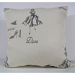 Diva Ivory Decorative Pillow