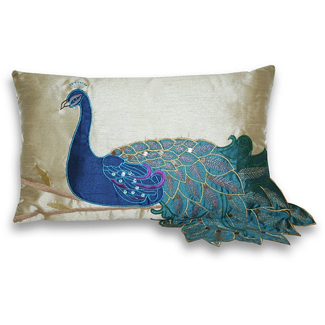 Fancy Peacock 12x20-inch Rectangular Pillow
