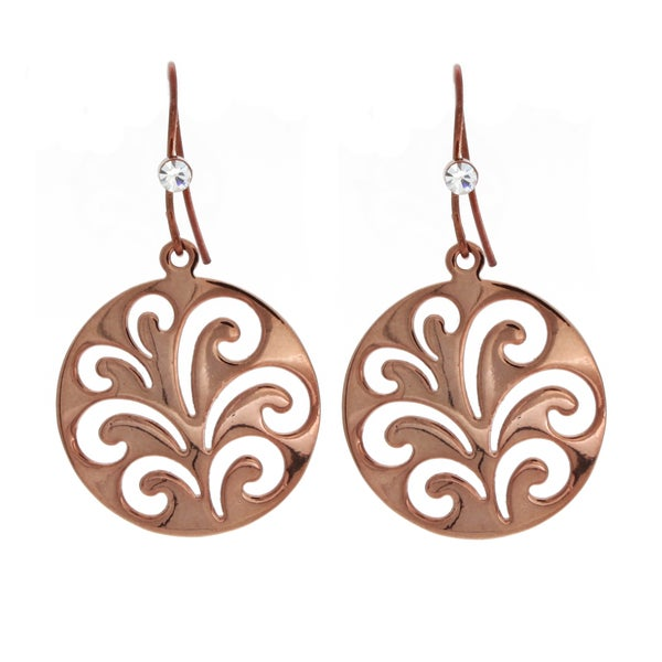 NEXTE Jewelry Chocolate Color Round Filigree Dangle Earrings