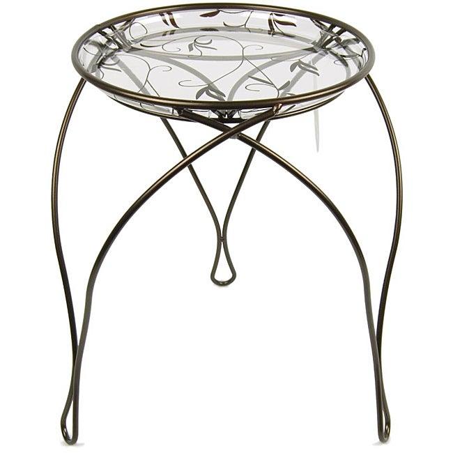 "'The Elegance' Plant Stand, Dark Bronze (17"" Inches)"