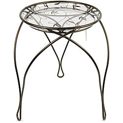 "'The Elegance' Plant Stand, Dark Bronze (17"" Inches)"