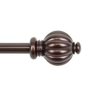 Classic Adjustable Cocoa Dome Curtain Rod Set