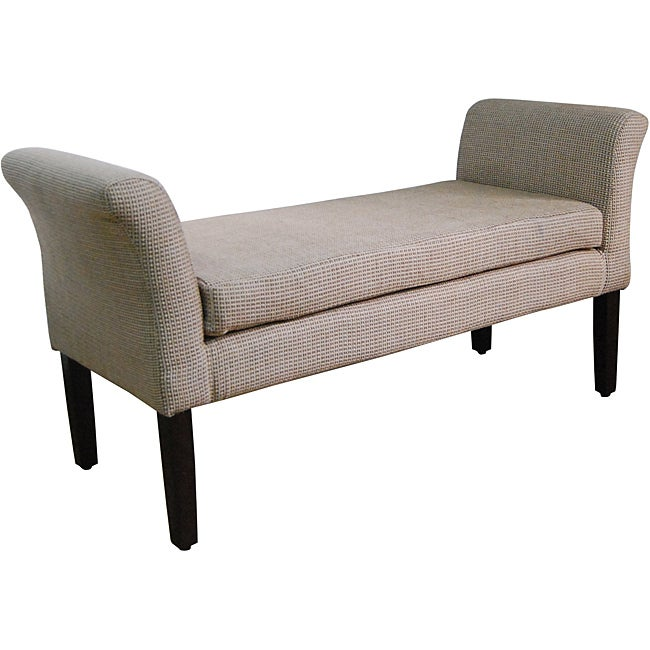 Decorative Brown Cream Geometric Dot Bench Overstock Shopping Great Deals On Homepop Benches