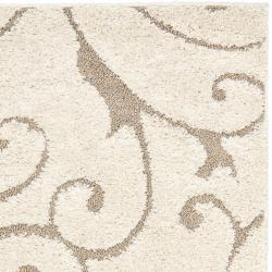 "Safavieh Ultimate Casual Cream/Beige Shag Rug (3'3"" x 5'3"")"