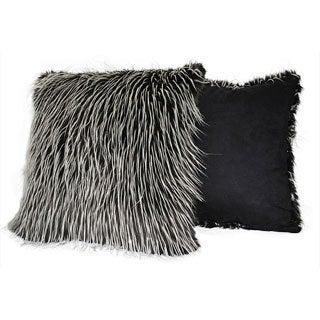 Sherry Kline 20-inch Silver Fox Faux Fur Decorative Pillows (Set of 2)