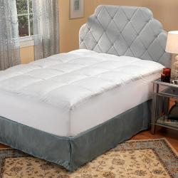 Framed Box Twin/ Twin XL-size Fiberbed with No Shift Skirt