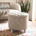 Reims Heather Grey Storage Ottoman