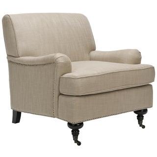 Safavieh Nottingham Taupe Nailhead Club Chair