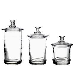 La Rochere French Glass Kitchen Storage Jars (Set of 3)