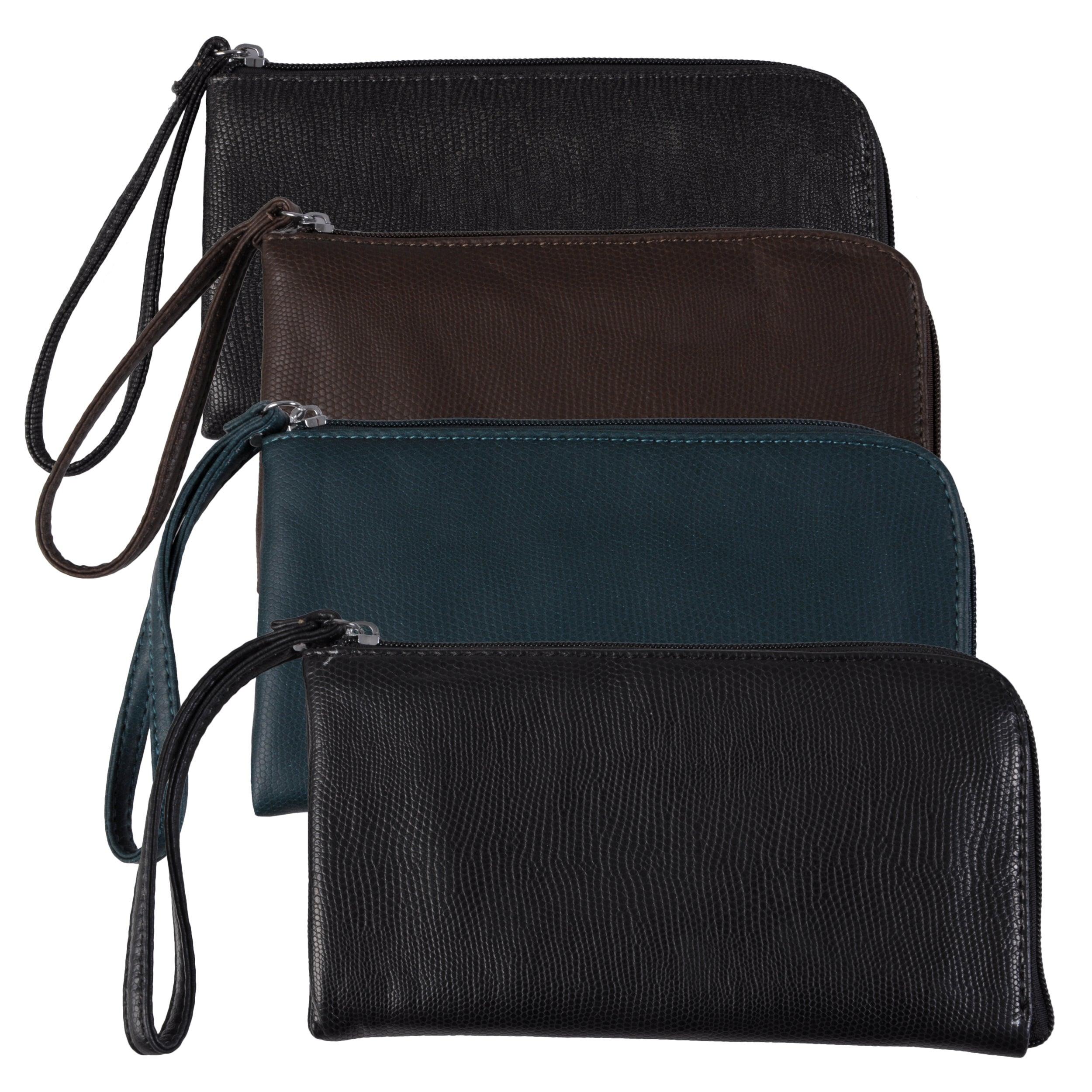 Adi Designs Women's Zippered Textured Wristlet Wallet