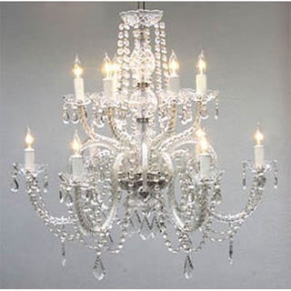 Gallery Venetian-style All-crystal 12-light Chandelier