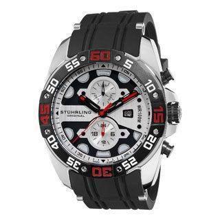 Stuhrling Original Men's Orbit Silvertone-Dial Swiss Quartz Watch