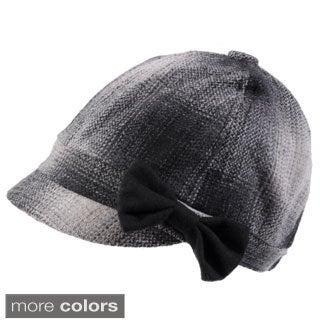 Journee Collection Women's Tweed Poppy Hat w/Bow