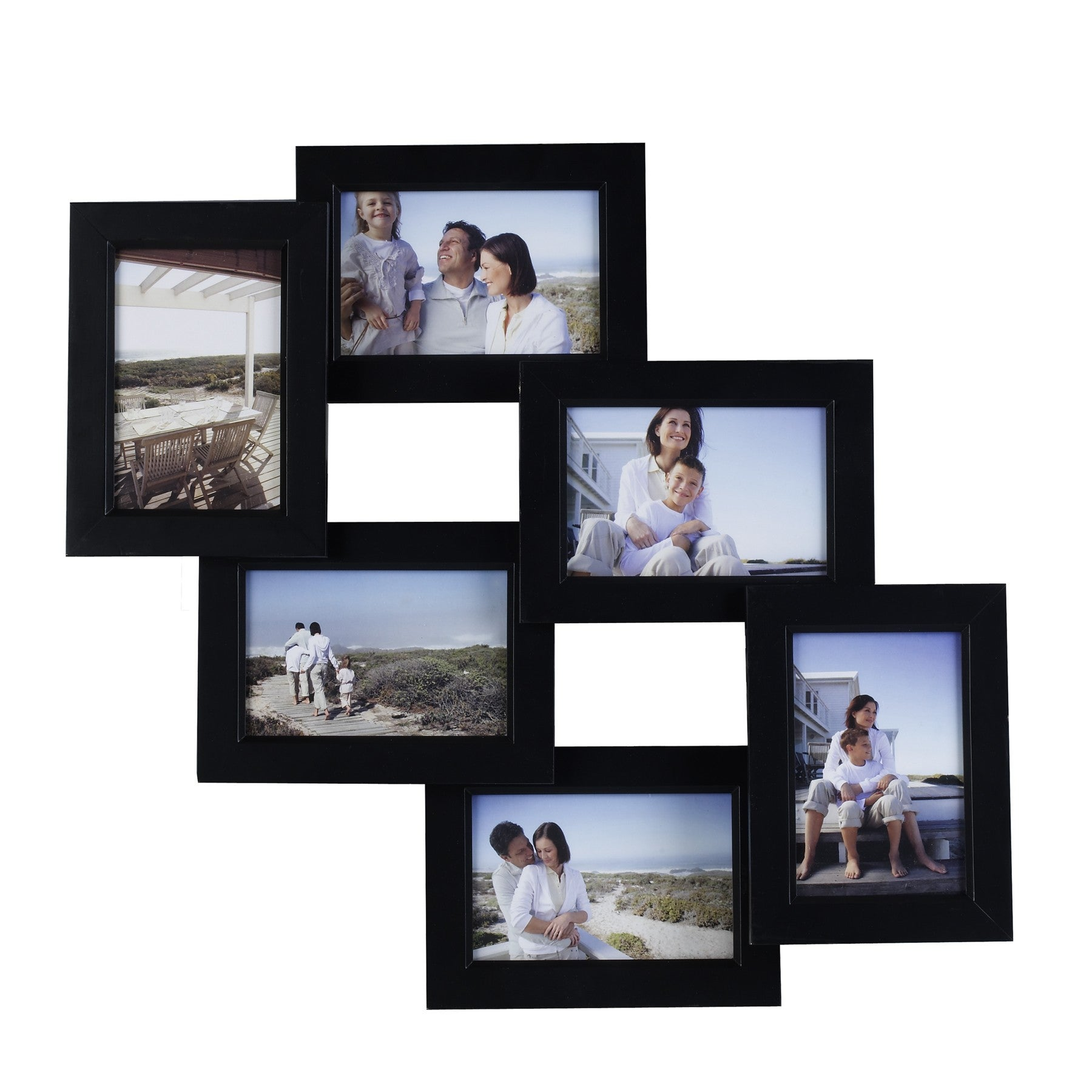 Mellanco 6-Photo Black Collage Frame