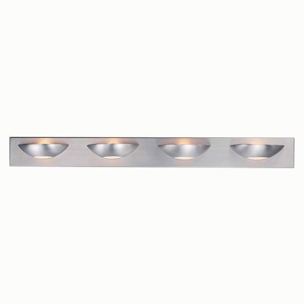 Triarch International Halogen Brushed Steel 4-light Bathroom Fixture