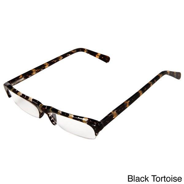 Hot Optix Men's Fashion Semi Rimless Reading Glasses