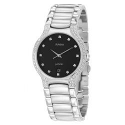 Rado Men's 'Florence' Stainless Steel Quartz Diamond Watch