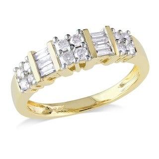 Miadora 14k Yellow Gold 1/2ct TDW Diamond Ring (G-H, I2-I3)