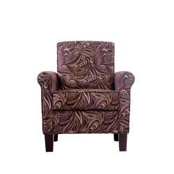 Portfolio Hyde Mocha Paisley Transitional Arm Chair