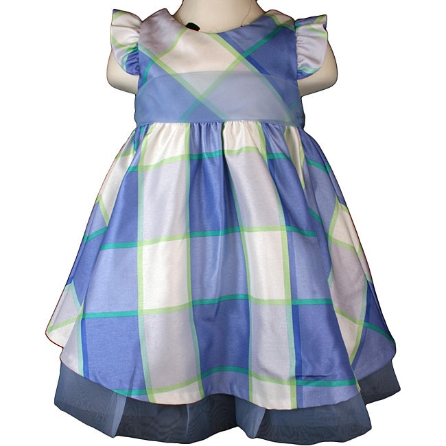 Rare Editions Infant Girl's Blue Plaid Party Dress