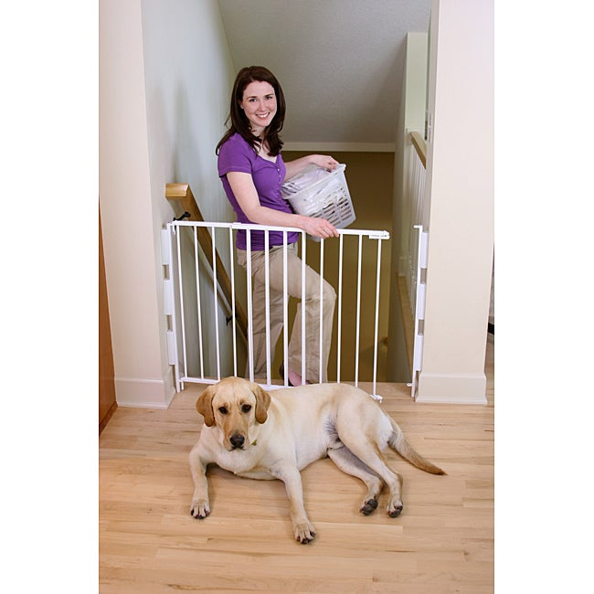 Regalo 2 In 1 Top Of Stairs Safety Gate Overstock