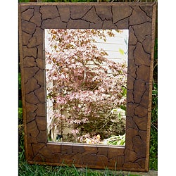 Reclaimed Large Teak Wood Jigsaw Mirror (Thailand)