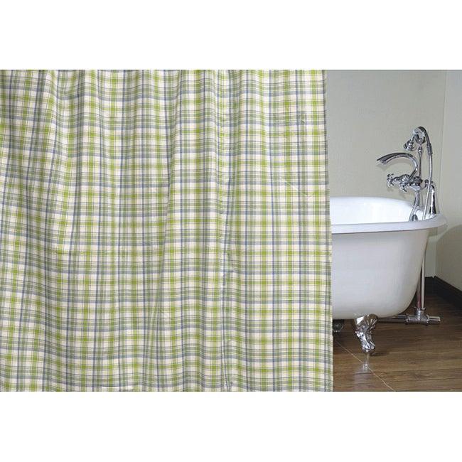 75+ Plaid Shower Curtain - Braxton Plaid Shower Curtain, Blue ...