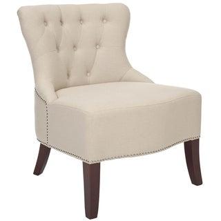 Safavieh Rouen Light Beige Linen Chair