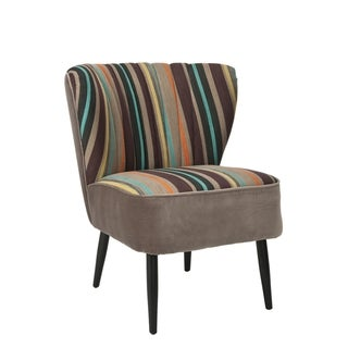 Safavieh Retro Rainbow Striped Accent Chair