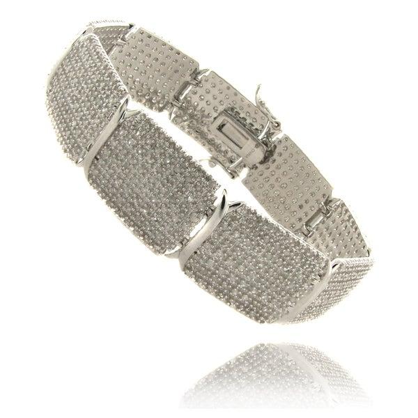 Finesque Silverplated 3ct TDW Diamond 7.25-inch Bracelet (I-J, I2-I3)